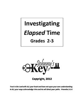 """Gr. 2-3 COMPLETE WORKBOOK """"Investigating ELAPSED TIME"""""""