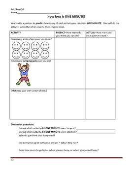 Gr. 2-3 Lesson 5 of 12: ONE MINUTE of Elapsed Time