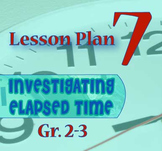 Gr. 2-3 Lesson 7 of 12: Introduction to ½ HOUR and ¼ HOUR of ELAPSED TIME