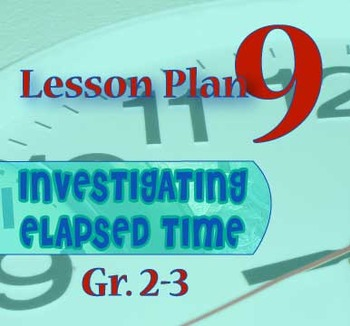 Gr. 2-3 Lesson 9 of 12: Introduction to ELAPSED TIME PIECES(TM) Clock Fractions