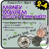 Money Activity: Super Fun Way to introduce algebra to 2-4th graders
