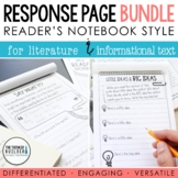 BUNDLE: Reading Response Pages *FULL-PAGE SET*