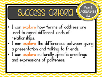 Version 8.3 - Grade 2 - All English Learning INTENTIONS & Success Criteria!  AC