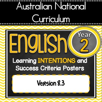 Version 8.3 - Grade 2 - All English Learning INTENTIONS &