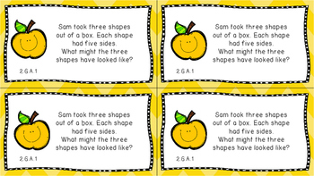 Gr 2 Math Journal Prompts/Topic Common Core COLOR G Geometry Shapes CCSS CC