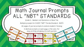 Gr 2 Math Journal Prompts/Topic Florida Standards COLOR NB