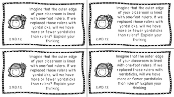 Gr 2 Math Journal Prompts/Topic Florida Standards MD Measurement Data B&W Graphs