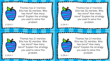 Gr 2 Math Journal Prompts/Topics Common Core COLOR EVERY STANDARD CCSS