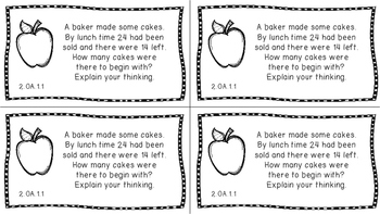 Gr 2 Math Journal Prompts/Topics Florida Standards B&W EVERY STANDARD MAFS FS