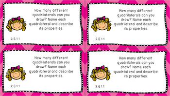 Gr 2 Math Journal Prompts/Topics Florida Standards COLOR Geometry Shapes MAFS FS