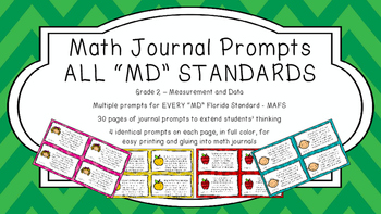 Gr 2 Math Journal Prompts/Topics Florida Standard COLOR MD Measurement Data MAFS