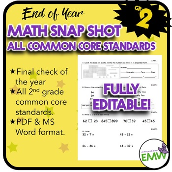Gr 2 End of Year Math Snapshot – All Core Standards Quick