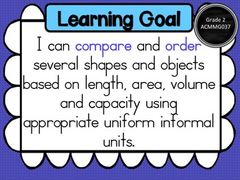 Gr 2 Maths – Measurement & Geometry, Learning Goals & Success Criteria Posters