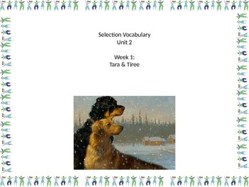 Gr 2 Unit 2 Selection Vocabulary with picture visuals