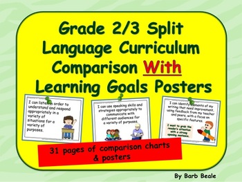 Gr 2/3 Split Language Curriculum Comparison Charts & Learning Goals Posters