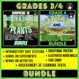 ONTARIO SCIENCE:GR.3/4 GROWTH & CHANGES IN PLANTS/HABITATS & COMMUNITIES BUNDLE