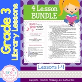 Gr. 3: 4 Lessons (Library Rules, Reading Club, THE MEssage