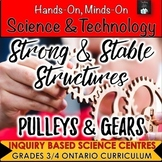 ONTARIO SCIENCE: GR. 3/4 STRONG & STABLE STRUCTURES AND PULLEYS & GEARS BUNDLE