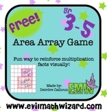 Gr 3-5: Free Area Array Multiplication Game Common Core Aligned