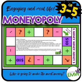 Money Game: Moneyopoly - Who is going to make the most money? Board Game