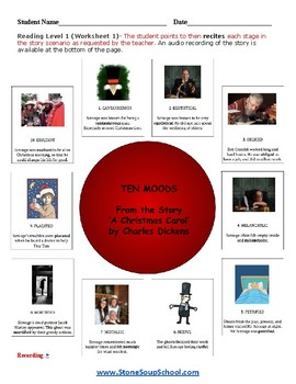 """Gr 3 - 8 Gifted and Talented  """"A Christmas Carol""""  Moods of the Story - Reading"""