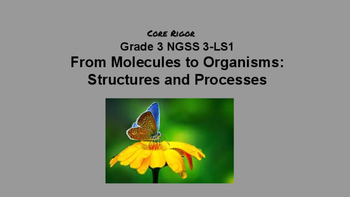 Gr. 3 From Molecules to Organisms: Structures and Processes NGSS 3-LS1