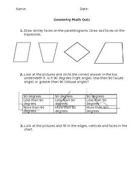 Gr. 3 Geography Quiz
