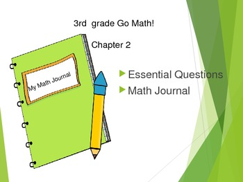 Gr 3 Go Math! Ch. 2 Essential Questions and Journal Prompts