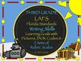 Gr 3 LAFS WRITING Goals 2 Sets of Rubrics, Graphics & Self-Monitoring Tool