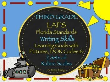 Gr 3 LAFS WRITING Goals 2 Sets of Rubrics, Graphics & Self