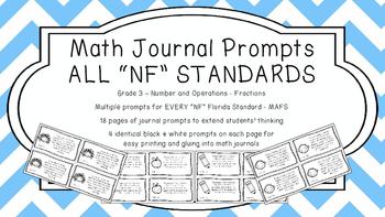 Gr 3 Math Journal Prompt/Topic Florida Standards MAFS B&W