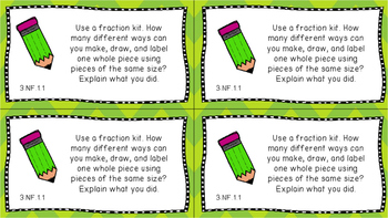 Gr 3 Math Journal Prompt/Topic Florida Standards MAFS Number Operations Fraction