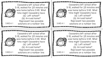 Gr 3 Math Journal Prompts/Topic Common Core B&W MD Measurement Data CCSS CC