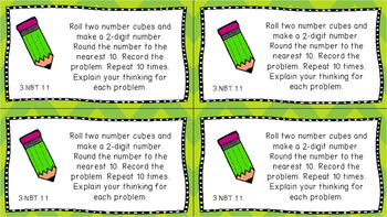 Gr 3 Math Journal Prompts/Topic Florida Standards COLOR NBT Number Base Ten MAFS