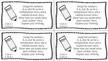 Gr 3 Math Journal Prompts/Topics Common Core B&W OA Operation Algebraic Thinking