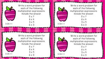 Gr 3 Math Journal Prompts/Topics Florida Standards COLOR OA Algebraic Thinking