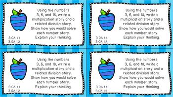 Gr 3 Math Journal Prompts/Topics Math Florida Standard MAFS Color EVERY STANDARD