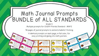 Gr 3 Math Journal Prompts/Topics Math Florida Standard MAF