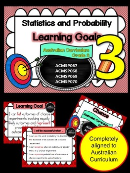 Gr 3  Maths  Statistics & Probability Learning Goals & success criteria posters