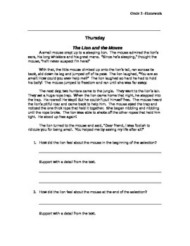 Gr. 3 OAA Homework
