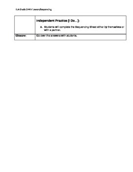 Gr. 3 Ohio Achievement Assessment (OAA) sequencing mini lesson