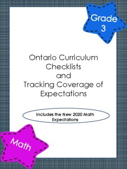 Gr 3 Ontario Math Checklist and Expectation Tracking
