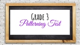 Gr. 3 PATTERNING UNIT TEST