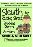 Gr. 3, Reading Street, Sleuth Lesson Plans & Student Sheets for All of Unit 1