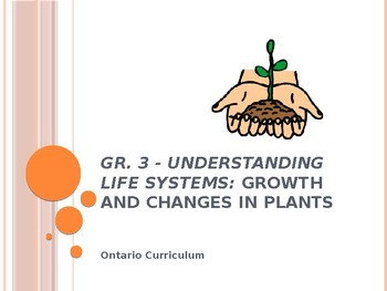 Gr. 3 Science Understanding Life Systems: Growth and Changes in Plants