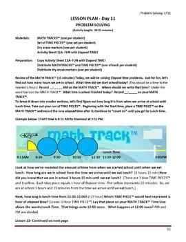 Gr. 4-5 Lesson 11 of 12: Elapsed Time PROBLEM SOLVING