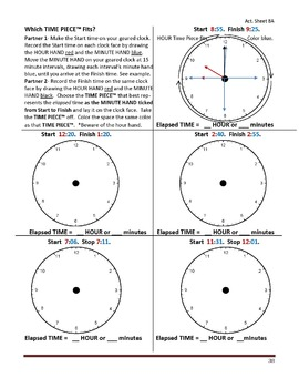 Gr. 4-5 Lesson 8 of 12: Introduction to TIME PIECES(TM) Clock Fractions