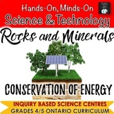 ONTARIO SCIENCE: GR. 4|5 ROCKS & MINERALS AND CONSERVATION OF ENERGY BUNDLE