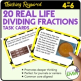 Dividing Fractions Task Cards Deep Thinking Real Life Word