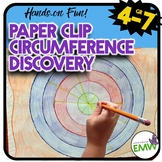 Radius, Diameter, Circumference, & Ratios Discovery using Paperclips